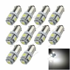 10X White BA9S 57 W6W 5 5050 SMD LED License Plate Light Map Bulb Dome Lamp K001