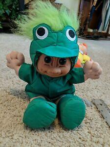 Russ Troll Kidz Plush Doll Green Froggie Costume 12 in