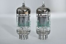 MATCHED Pair Vintage Audio Vacuum Tube SYLVANIA Mil Spec 5751 WA STRONG BALANCED