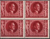 Stamp Germany Mi 847 Sc B234 Block 1943 WW2 3rd Reich Adolf Hitler Birthday MNH