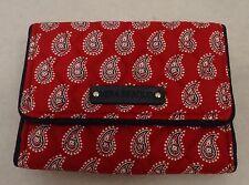 Vera Bradley  Petite Trifold  Wallet Petite Red Bandana Paisley  NWT