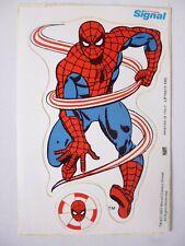 VINTAGE SPIDER-MAN STICKER.  SIGNAL TOOTHPASTE. 1983. RARE