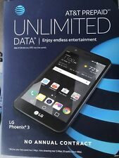 3 Brand New LG Phoenix 3 AT&T Go phones free shipping