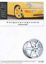 Folleto TechArt ruedas diseño funcionamiento 1994 2 94 Porsche 911 928 y 944 968