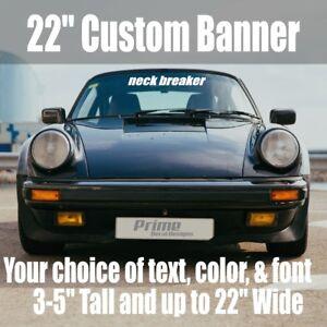 "22"" Custom Personalized Text Car Windshield Window Vinyl Decal Banner Sticker"