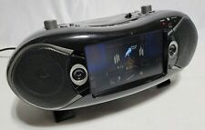 "Naxa NDL-287 Bluetooth DVD Boombox TV 7"" LCD Screen & Radio - CD - Black"