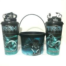 3Pcs Tron Legacy Cup Toppers Popcorn Bucket Movie 2010 Cinemas Theatres