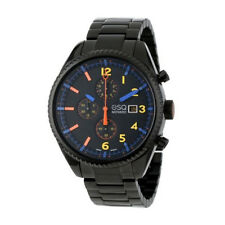 New ESQ Movado Catalyst 42mm Black PVD Chronograph Mens watch Bracelet 07301452