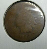 1868  Indian Head Penny Cent  Coin  #68-2
