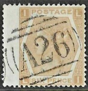 GB Used Abroad in GIBRALTAR A26  6d. buff. Superb stamp!
