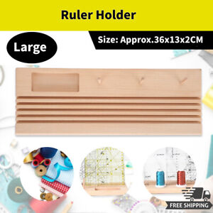 Quilting Ruler Holder Spools Rack Storage Organizer Stand DIY Wooden Tool Large