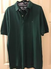 Tommy Hilfiger Green Polo L-Lightly Used- Classic Fit-Free Domestic Shipping