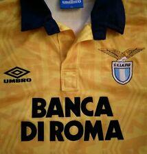 Ss Lazio Away Camiseta 1992/93 Kit Italia Serie A Roma Amarillo Tamaño Xl Umbro de fútbol