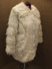 Rachel Zoe NEW Upscale Warm Exotic Animal Shaggy Faux Fur Coat Womens Plus Sz 2X