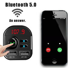 Car FM Transmitter Bluetooth 5.0 2 USB Charger Handsfree Adapter MP3 Player Tool