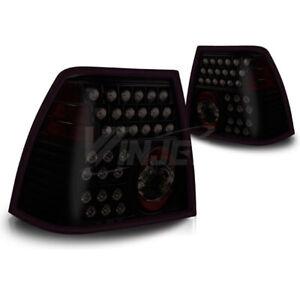 For 1999-2005 Volkswagen Jetta LED Black Housing Smoke Lens Tail Lights Lamps