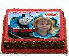 Thomas the tank engine personalized Cake topper edible image icing Fondant