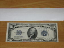 1934 D $10 Ten Dollar Federal Reserve Note Fr. 1705 Very Nice Condition