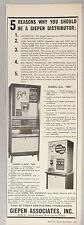 Giepen Associates Coin-Operated Coffee Vending Machine PRINT AD - 1962