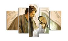 Quadro sacro religioso moderno su 5 pannelli in legno Natività ®   145 x 83 cm