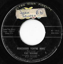 Remember Your Mine / There's A Gold Mine In The Sky Pat Boone VG-