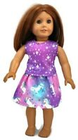 "Unicorn Top & Skirt 18"" Doll Clothes fits American Girl dolls"