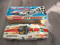 Tinplate Large Friction Powered Jet Racer Boxed