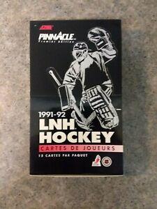 1991-92 PINNACLE Premier Edition French (22) FACTORY SEALED PACKS LNH Hockey Box