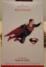 2013 Hallmark SUPERMAN MAN OF STEEL cape S Christmas Ornament NEW