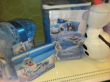 New Disney Frozen Twin 6Pc Comforter Bed Set ,sheet ,Blanket & Pillow Toy