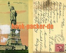 AK/Vintage postcard: NEW YORK CITY, Statue of Liberty (1909) over 100 years old!