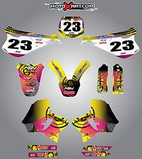 YAMAHA WR 250 1994 - 1997 Full Custom Sticker Kit NEON style graphics / decals