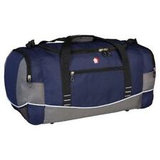 Swiss Gear Wenger Duffel Gym Sports Travel Weekend Camp Bag - Blue With Grey