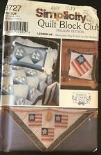 Simplicity Quilt Block Club Holiday Edition 9727 one size NOS Uncut Flag