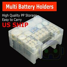 Plastic Battery Box Storage Case Holder Organizer for AA AAA C D 9V Batteries