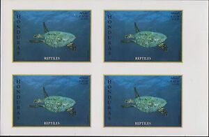 O) 1998 HONDURAS,IMPERFORATE,REPTILE- HAWKSBILL TURTLE CRITICALLY ENDANGERED-CHE