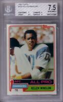 Kellen Winslow San Diego Chargers 1981 Topps Rookie Card RC graded BGS (PSA) 7.5