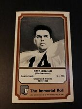 1975 FLEER TEAM CLOTH PATCH STICKERS THE IMMORTAL ROLL OTTO GRAHAM FAIR