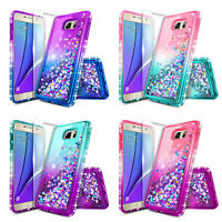 For Samsung Galaxy Note 5 | Liquid Glitter Bling Case Cover + Screen Protector
