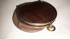 Vintage leather purse with collapsible sides