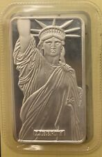 1 Oz .999 Pure Silver Bullion Bar — Statue Of Liberty