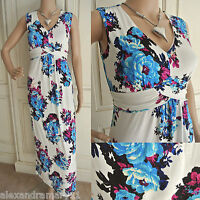 NEW EX WALLIS WHITE BLUE YELLOW PINK BLACK FLORAL SUMMER MAXI DRESS 10 - 20