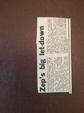 H1g Ephemera 1970s Album Review Led Zeppelin Presence M P Flanagan Oreston