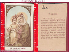 1628 SANTINO HOLY CARD MADONNA MARIA SS. VERGINE DEL ROSARIO ORAZIONE