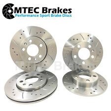 Vectra B 4 Stud BRAKE DISCS Front Rear Drilled Grooved