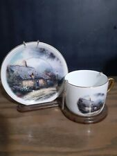 Thomas Kinkade Plate And Cup-The Apen Chapel