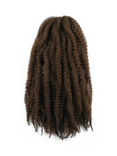 CYBERLOXSHOP MARLEY BRAID AFRO KINKY HAIR #33 WARM CHOCOLATE DREADS SYNTHETIC