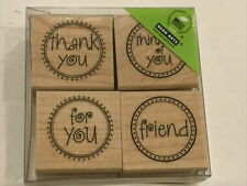 New Hero Arts Message Circles 4 Piece Rubber Stamp Set Ll114