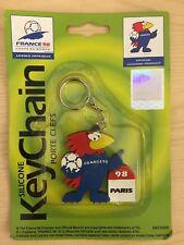 MONDIALI DI CALCIO FRANCIA PARIGI 98 mascotte keychain 1998 PORTACHIAVI SIGILLATO 6.5 cm