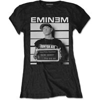 Eminem Arrest Mugshot Photo Slim Shady Rap Music Official Womens Black T-shirt